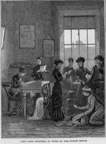 Offices were given to the ladies but little help. The women held public meetings and encouraged country women to be active in withholding rent, in boycotting and in resisting evictions. They raised funds for the League and for the support of prisoners and their families. They distributed Land League wooden huts to shelter evicted tenant families and by the beginning of 1882 they had 500 branches, thousands of women members and considerable publicity.
